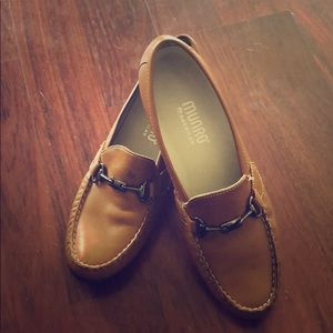 MUNRO M555051 brown leather loafers/ women's size7